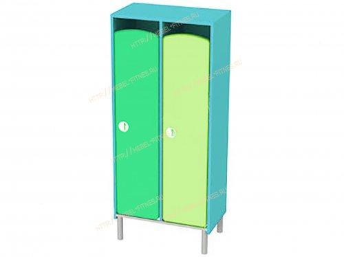 Шкаф детский 2 секционный на металлокаркасе-hd-5