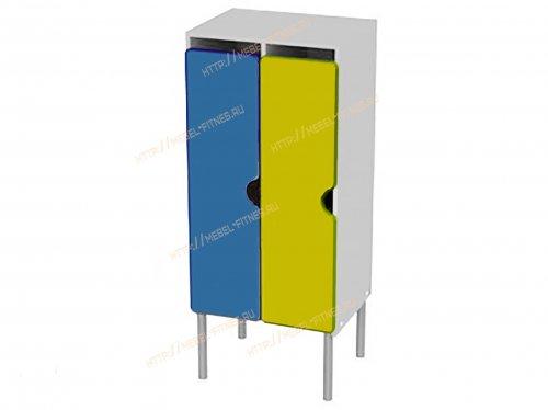 Шкаф детский 2 секционный на металлокаркасе-hd-6