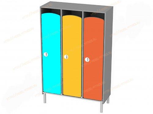 Шкаф детский 3 секционный на металлокаркасе-hd-9