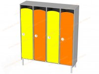 Шкаф детский 4 секционный на металлокаркасе-hd-13